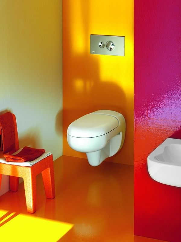 playful and colourful bathroom exclusively for children by laufen fun kids bathroom