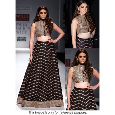 Bollywood Collection Black Net Designer Lehenga Choli