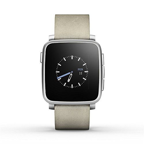 Pebble Time Steel Smartwatch for Apple/Android Devices – Gold (Certified Refurbished) #deals