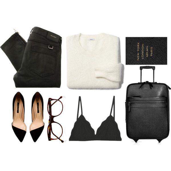 Outfit love <3   B L Suitecase by endimanche on Polyvore featuring Madewell, Belstaff, Burberry, Cutler and Gross, Smythson, Zara, suede pumps, black skinny jeans, black and suitecases