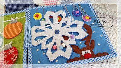 Winter quitebook Зимняя развивающая книжка