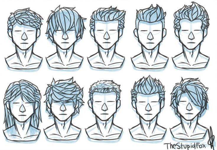 Male Hairstyle Reference Character Design In 2020 Drawing Hair Tutorial Drawings Pinterest Drawing Male Hair