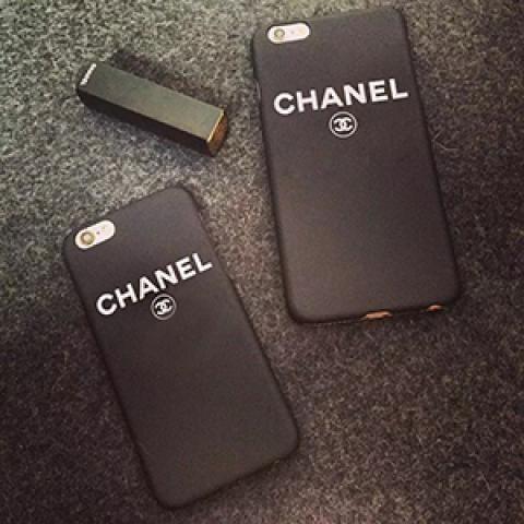 シンプル風 超クール黒いブラック シャネル chanel iphone7/6s/6s plusケース アイフォンSE/5S/6 プラス カバー 薄いハードケースブランドロゴ