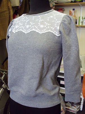 sweatshirt remake. i had a similar idea to this with just one of those $5 walmart sweatshirts.