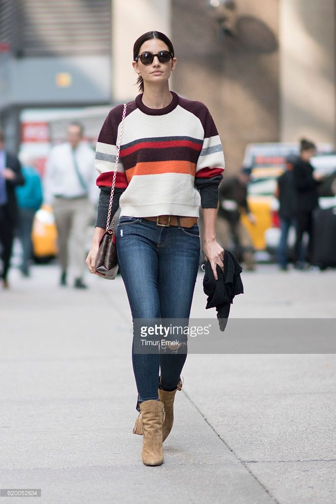 Lily Aldridge seen befote the Victorias Secret Fitting on November 1, 2016 in New York City.