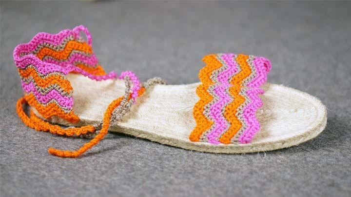 Selbstgemacht! Sommerliche Sandalen ganz leicht häkeln -