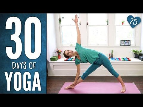 Day 25 - Dancing Warrior Sequence - 30 Days of Yoga - YouTube