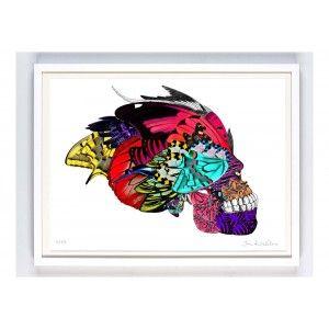 Skull Art Print - available to buy online at Everything Begins.    #skullart #skullartwork #skullprint #skullartprint #art #print #artprint #artprints #artwork #colourfulart #modernart #contemporaryart #gicleeprint #limitededition #signedandnumbered