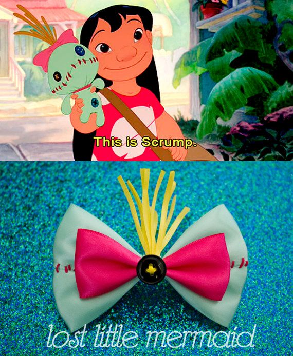 Beth would love this bow.   Lilo and Stitch Scrump Doll Inspired Hair Bow by LostLittleMermaid, $8.50