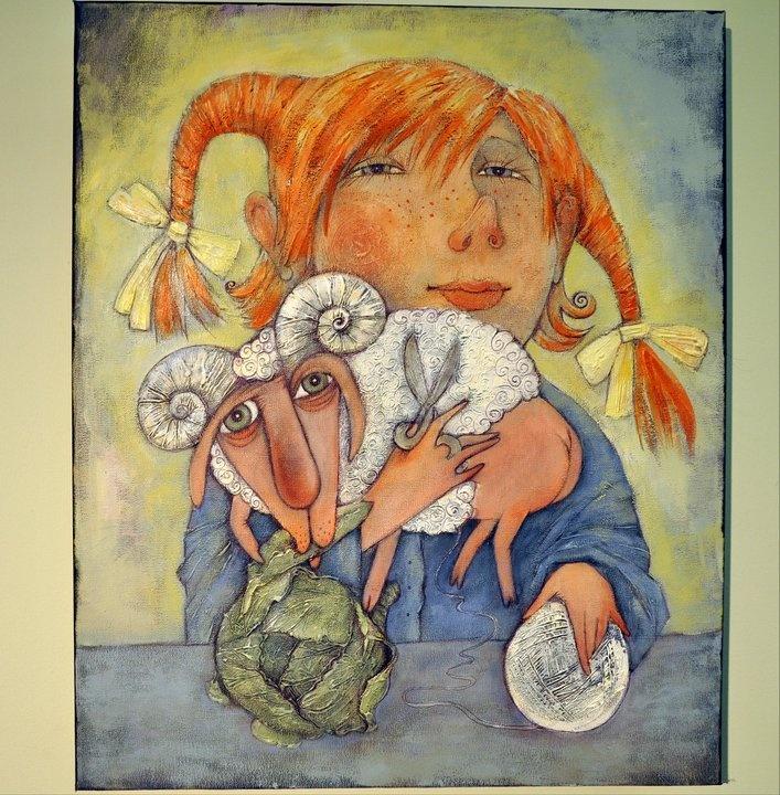 This is a recent artist a friend found on facebook. Evgeniya Aleksandrova, she's got great dolls too.