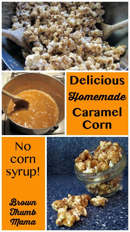 Delicious, homemade carmel corn without corn syrup!
