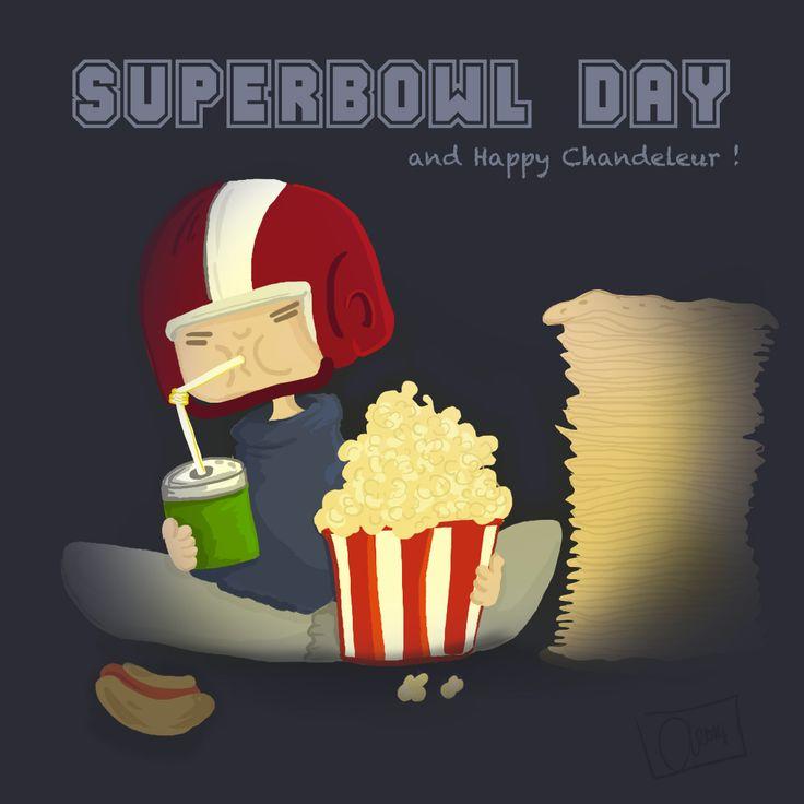 Happy Superbowl day et Bonne chandeleur :) #angeliquedesign #sketch #illustration #photoshop #character #littleboy #superbowl #superbowl2014 www.angelique-design.com