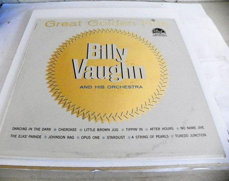 BILLY VAUGHN 33 RPM GREAT GOLDEN HITS DOT RECORDS DLP-3288 EX 1960 #Instrumental