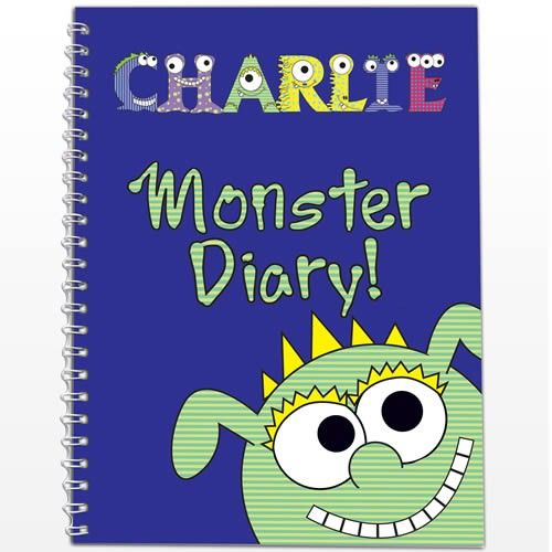 Personalised Diary Little Monster   from Personalised Gifts Shop - ONLY £7.99