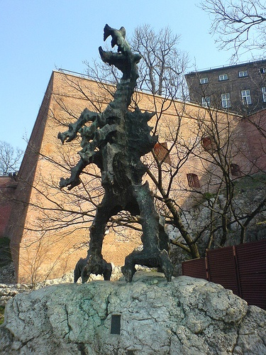 Dragon at Wawel Castle - #Krakow, #Poland