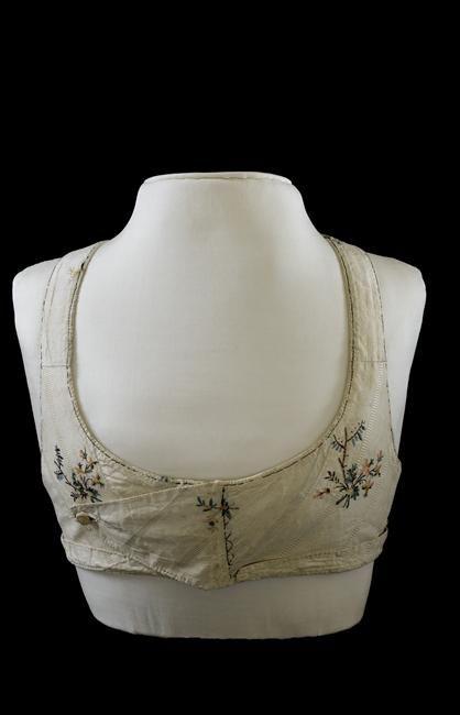Embroidered bodice (front), French, ca. 1805-14. Worn by Empress Joséphine Réunion des Musées Nationaux-Grand Palais -