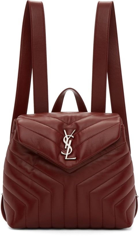 1b16d4bb109 Saint Laurent - Burgundy Small Monogram Loulou backpack | BAGS ...