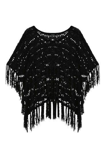 #black #poncho #TALLYWEiJL
