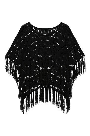 #black #poncho #TALLYWEiJL