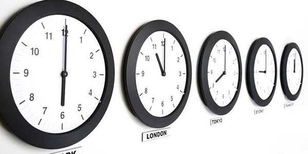 Love this for their travel themed bedroom. Would hang the clocks under a map of the world.