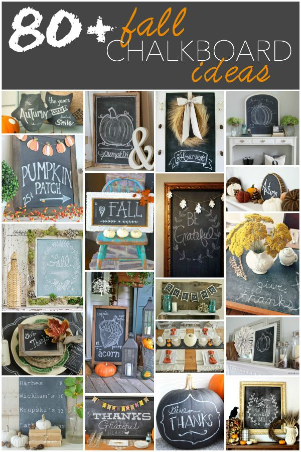 80+ Fall Chalkboard Ideas