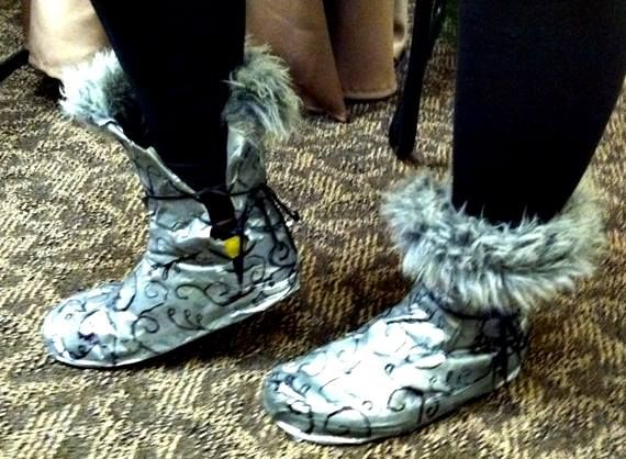 Awesome boots one client created out of extra material found in the #ARTC room #PFH