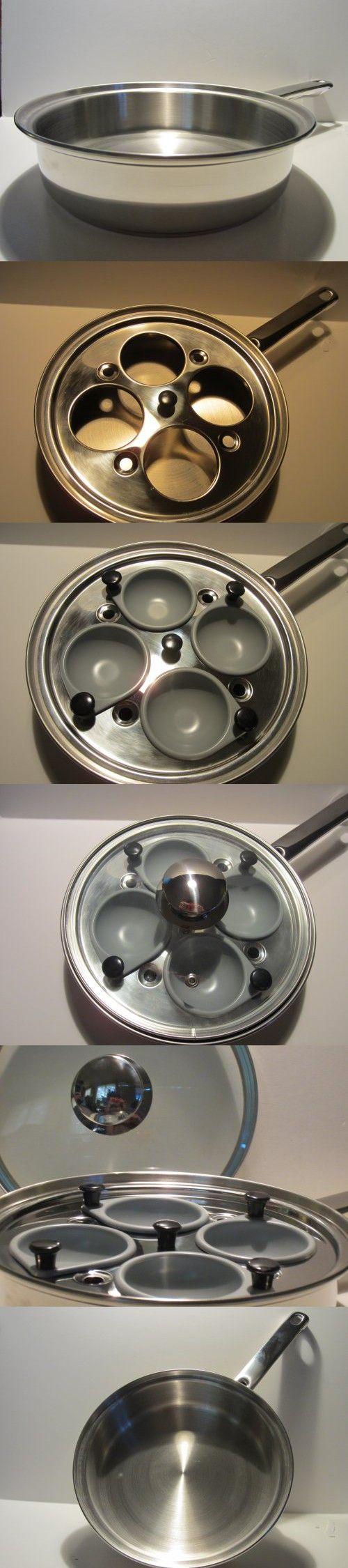 HIC Stainless Steel 4 Egg Poacher Pan