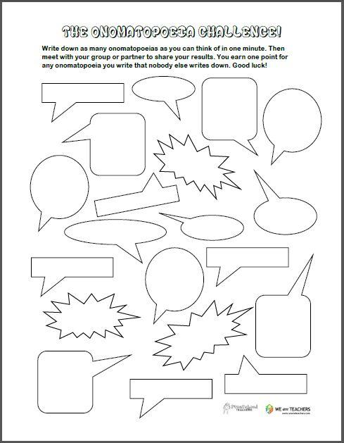Free Printable: Onomatopoeia Challenge!