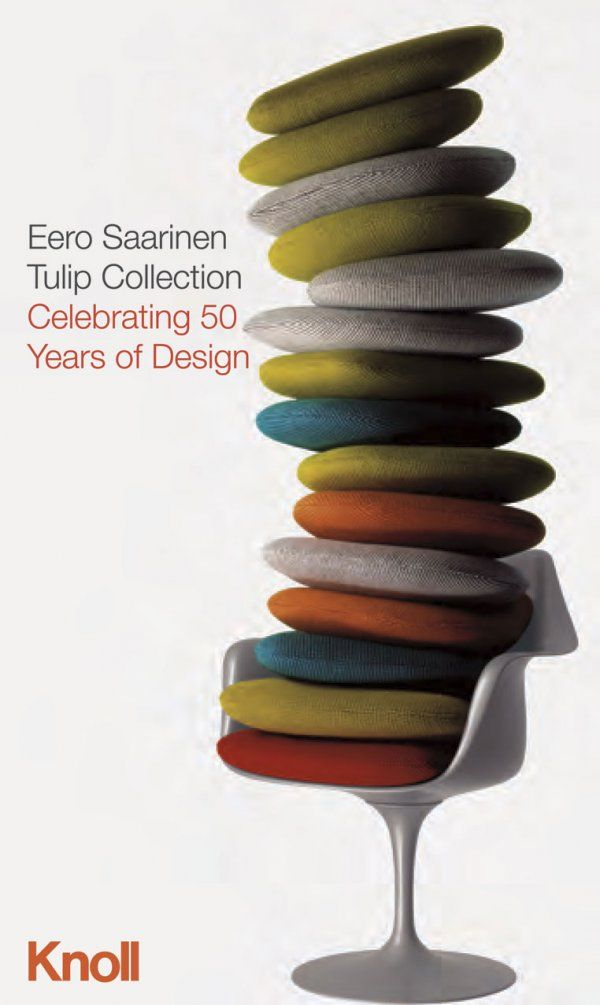 Tulip Chair by Eero Saarinen for Knoll, 1956.