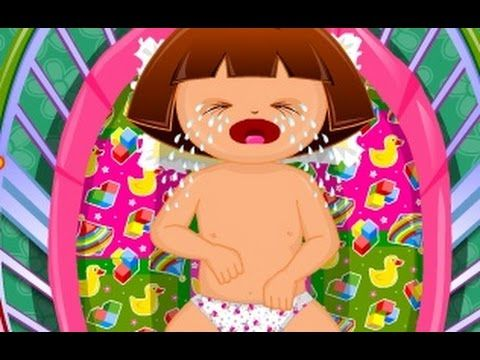 Dora Baby Caring - Dora The Explorer Baby Games - Dora Game for Kids