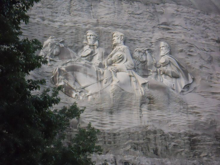 The carving history stone mountain georgia summer