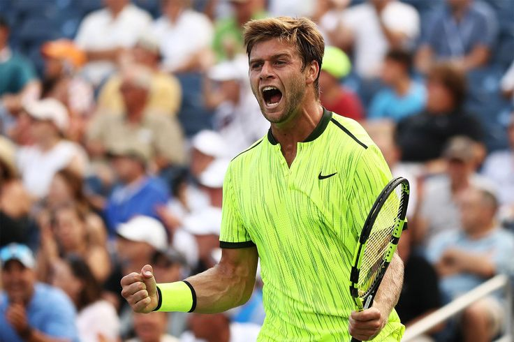 Winning Moments   NEW YORK, NY - AUGUST 31:  Ryan Harrison of the United States celebrates his win over Milos Raonic of Canada during his second round Men's Singles match on Day Three of the 2016 US Open at the USTA Billie Jean King National Tennis Center on August 31, 2016 in the Flushing neighborhood of the Queens borough of New York City.  (Photo by Elsa/Getty Images)