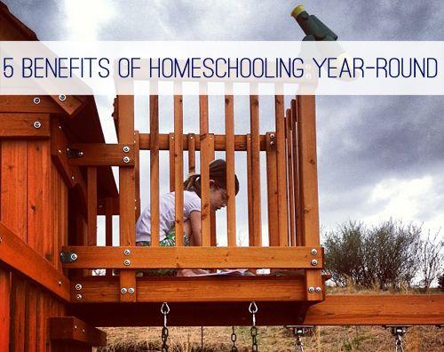 5 Benefits of Homeschooling Year-Round at lifeyourway.net