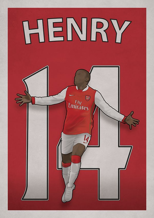 Thierry Henry / Arsenal FC www.something-studio.com www.twitter.com/something_says www.facebook.com/something.design