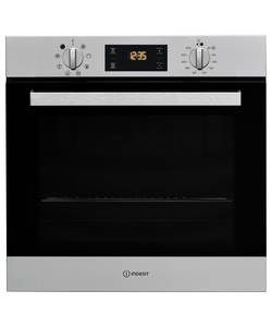 Indesit Aria IFW6340IX Built-in Single Electric Oven - Steel: The Indesit Aria IFW 6340 IX UK Oven in graphite offers 66L of cooking…