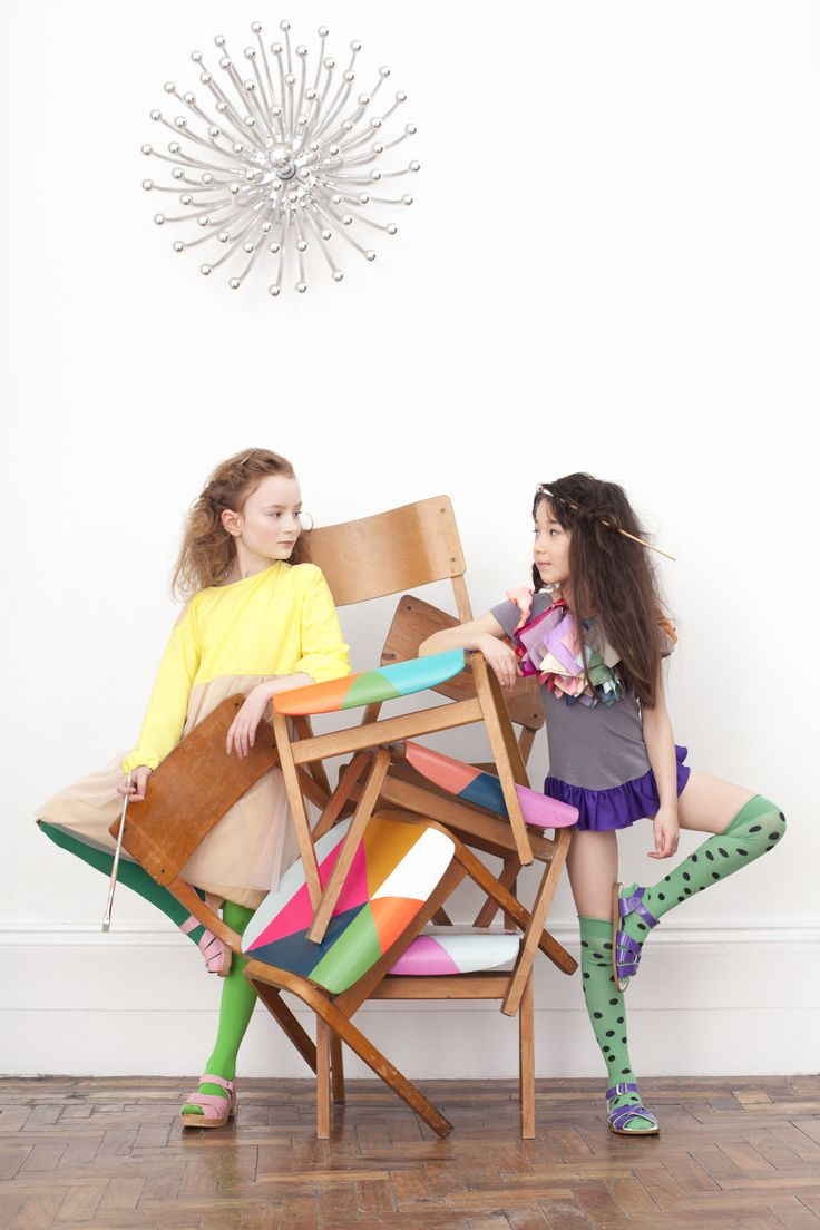 Luna Cover and Editorial #colourblock #kids #fashion #childrens #clothing #hannahcoates #zestoftheloganberry #zotl #photography #luna #magazine #marcjacobs #chairs #interiordesign