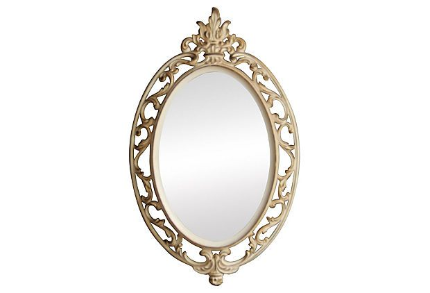 Round Ornate Cream Wall Mirror on OneKingsLane.com