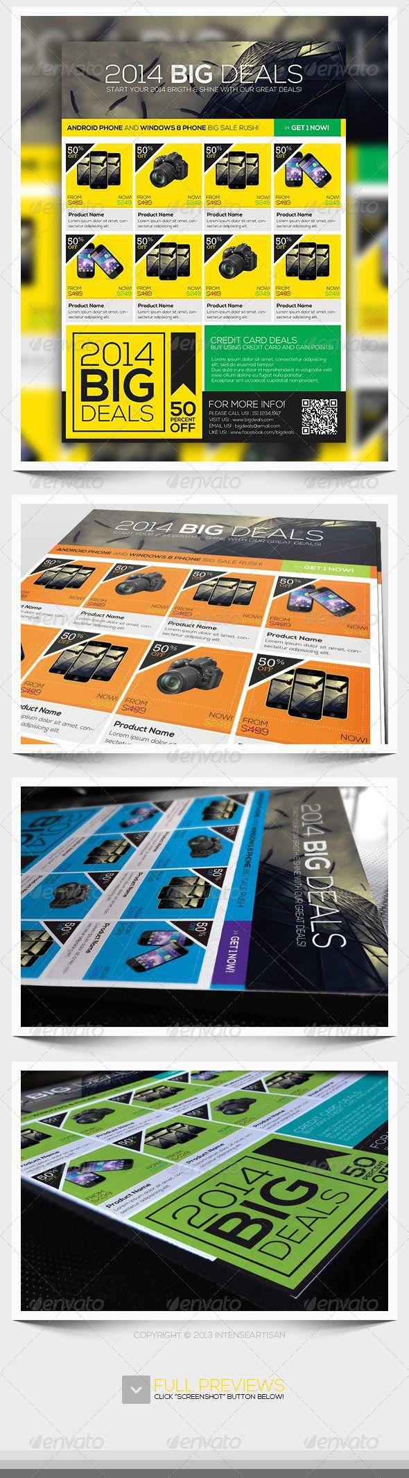 Big Sale Promotion Flyer Template PSD. Download here: http://graphicriver.net/item/2014-big-sale-promotion-flyer-v1/6431581?ref=yinkira