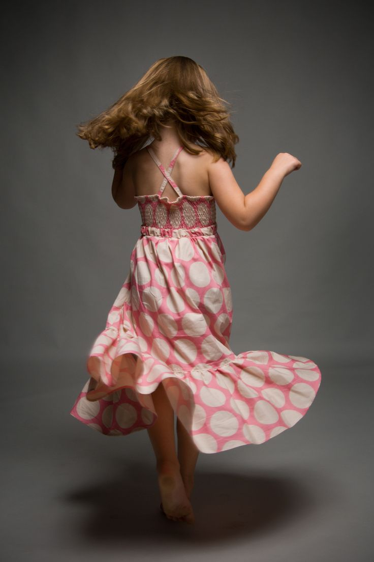 Pink Polka Dot Vintage OUCH Maxi Dress