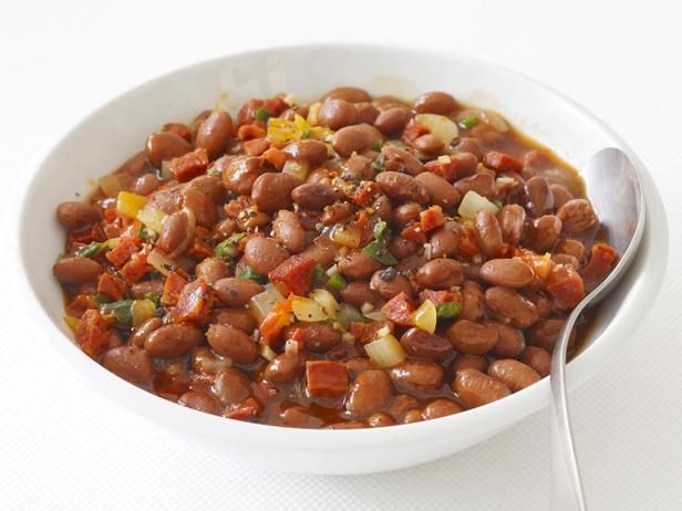 5-Star Cowboy Beans from #FNMag #GrillingCentral #SideDishes: Food Network, Barbecue Recipes, Foodnetwork Com, Network Kitchens, Cowboys Food, Cowboys Beans, Beans Recipes, Side Dishes Recipes, Cowboy Beans