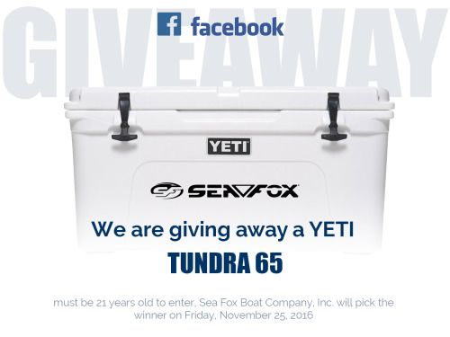 Win a YETI TUNDRA 65 for Black Friday! {US} (11/25/16) via... sweepstakes IFTTT reddit giveaways freebies contests