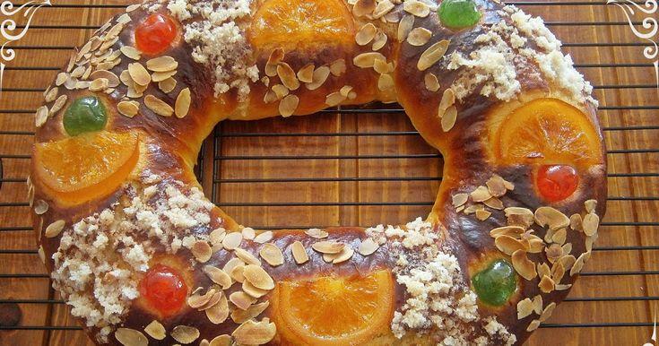 Un nuevo año y una nueva receta de roscón de Reyes, basado en la publicada por Bake-street.com . Como siempre una receta con una impor...