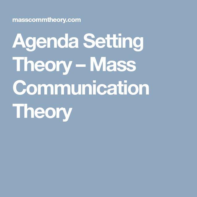 Agenda Setting Theory – Mass Communication Theory