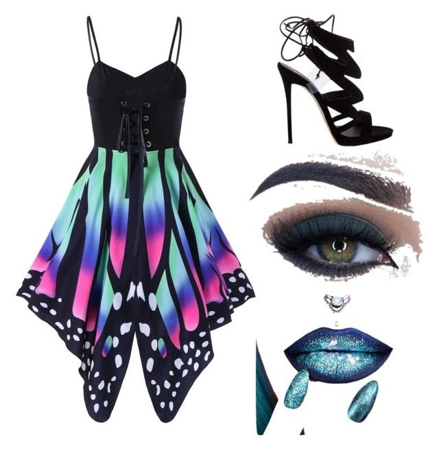 """""""Butterfly babe"""" by mystyleisme on Polyvore featuring Giuseppe Zanotti and Too Faced Cosmetics"""