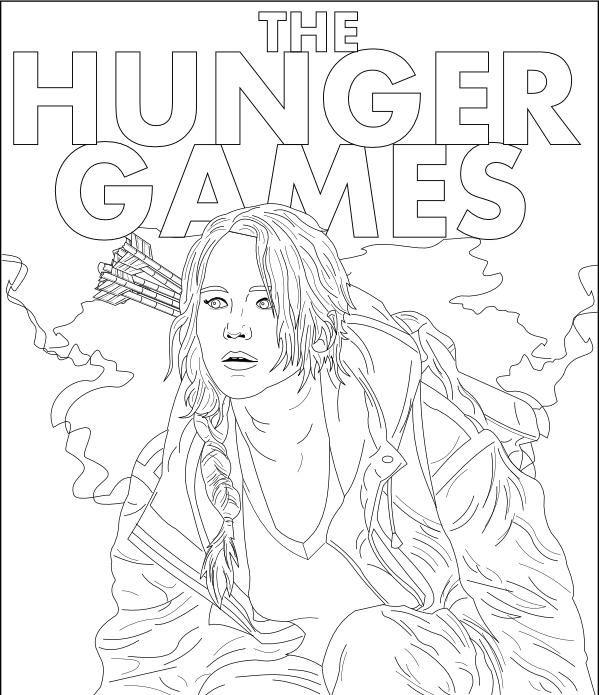 Épinglé par Nathalie Monio sur Coloriage HUNGER GAMES ...