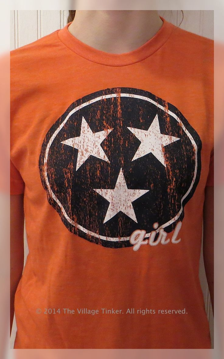 Tennessee Girl Tee with Tennessee Tri-star flag by TheVillageTinkerTN on Etsy https://www.etsy.com/listing/220114748/tennessee-girl-tee-with-tennessee-tri