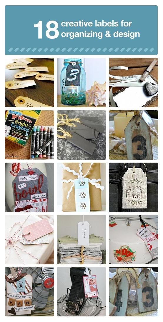 18 DIY label ideas for organizing and design.: Craft, Creative Label, Original, Label Ideas