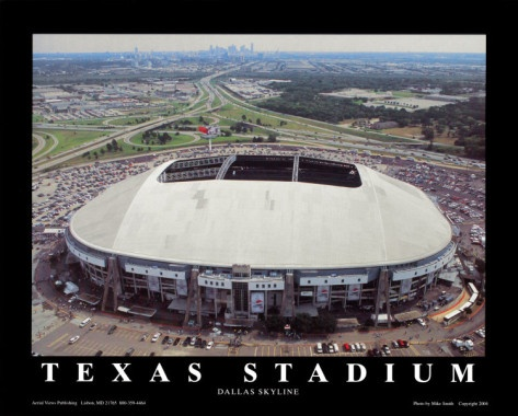 RIP Texas Stadium - 1971 to 2008. Home of the Dallas Cowboys.