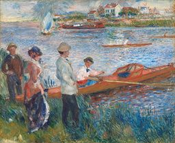 Auguste Renoir - Oarsmen at Chatou - 1879 - Painting