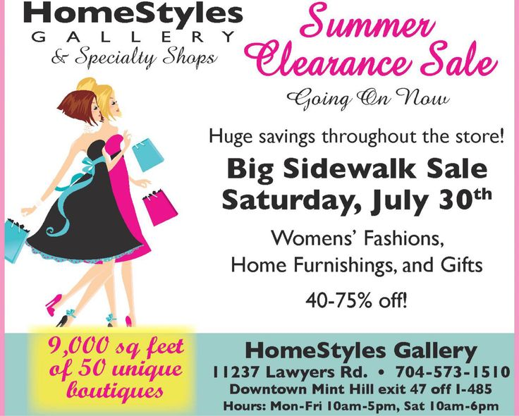Don't miss this fabulous sale!!
